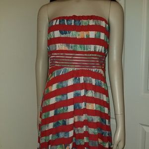 American Rag Cie floral Strip Dress